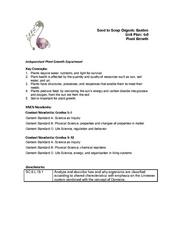 Independent Plant Growth Experiment Lesson Plan