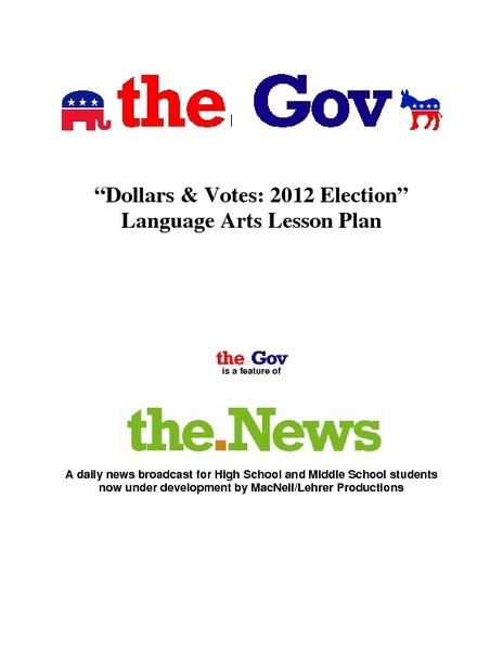 Dollars and Votes: 2012 Election Lesson Plan