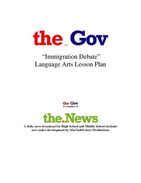 Immigration Debate Lesson Plan