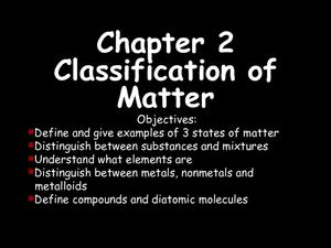 Chapter 2 - Classification of Matter Presentation
