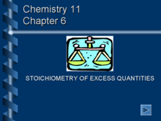 Stoichiometery of Excess Quantities Presentation