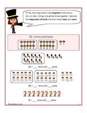 Math Circus: Tens and Ones Worksheet