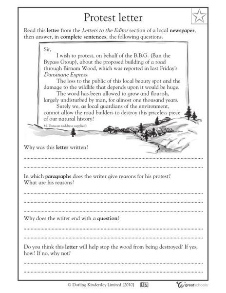 Protest Letter Writing Prompt for 3rd - 5th Grade | Lesson Planet