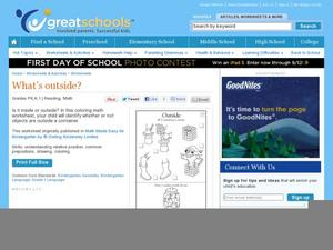 What's Outside? Worksheet