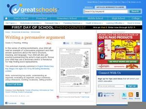 Persuasive Arguments Worksheet