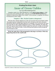 Anne of Green Gables Worksheet