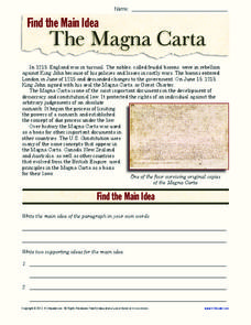 The Magna Carta Worksheet