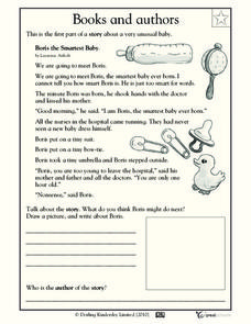 Reading Practice: Boris the Brainiest Baby Worksheet