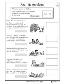 Real-Life Word Problems, Part 6 Worksheet