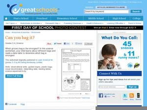 Can You Bag It? Worksheet