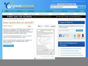 To stretch or not to stretch Worksheet
