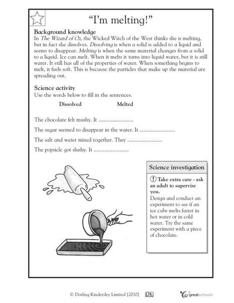 """I'm Melting!"" Worksheet"