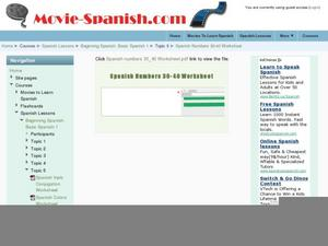 Spanish Numbers 30-40 Worksheet  Worksheet