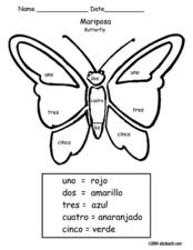 Color Me: Butterfly Worksheet