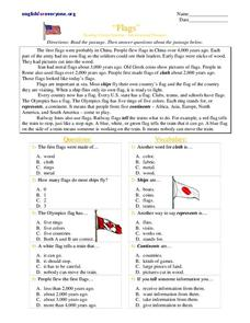 Flags Worksheet