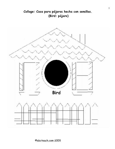Collage: Casa para pájaros hecha con semillas Lesson Plan