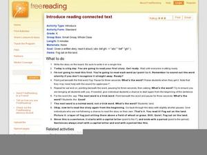 Introduce Reading Connected Text Lesson Plan