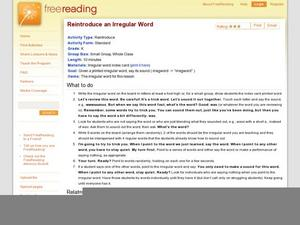 Reintroduce an Irregular Word Lesson Plan