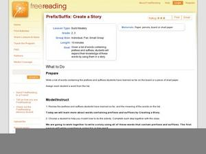 Prefix/Suffix: Create a Story Lesson Plan