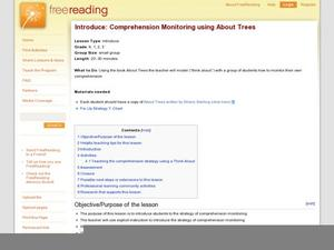 Introduce: Comprehension Monitoring using About Trees Lesson Plan
