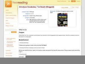 Introduce Vocabulary: Tar Beach (Ringgold) Lesson Plan