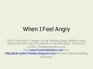 When I Feel Angry Presentation