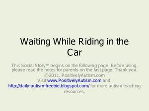 Waiting While Riding in the Car Presentation