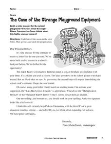 The Case of the Strange Playground Equipment Worksheet