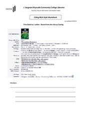 mla format lesson plans worksheets reviewed by teachers. Black Bedroom Furniture Sets. Home Design Ideas