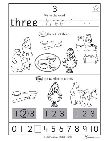 Learning 3 - Write the Word Worksheet