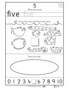 Learning 5 - Write the Word Worksheet