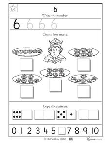 Learning 6 - Write the Number Worksheet