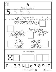 Learning 5 - Write the Number Worksheet