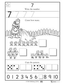 Learning 7 - Write the Number Worksheet