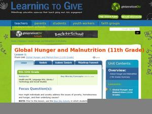 Global Hunger and Malnutrition Lesson Plan