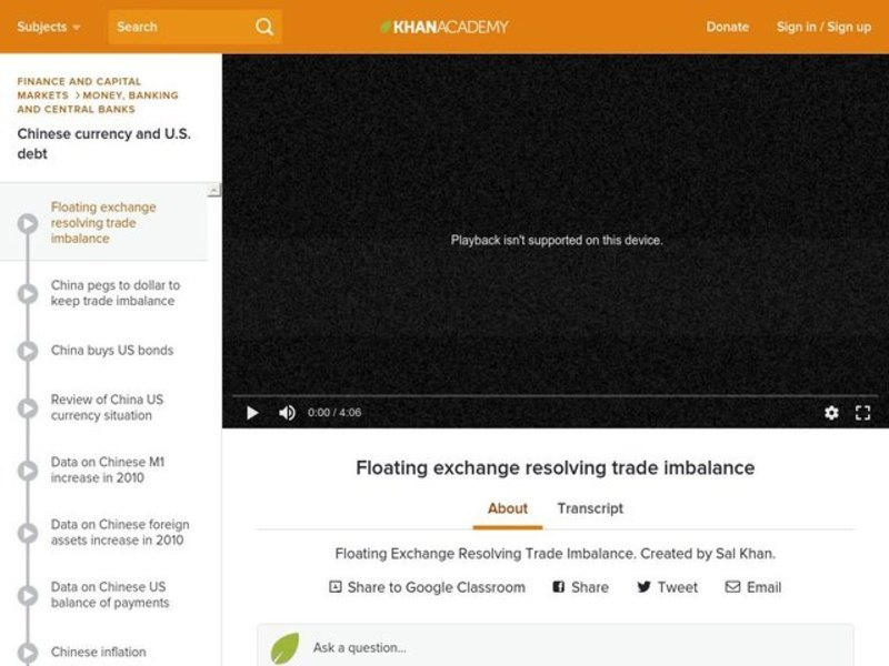 Floating Exchange Resolving Trade Imbalance Video