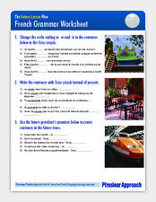 French Grammar Worksheet: futur simple Worksheet