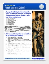 French Language Quiz #1 Worksheet