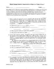 Third-Person Limited, Omniscient or Objective Point of View? Worksheet