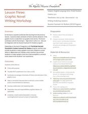 Graphic Novel Writing Workshop Lesson Plan