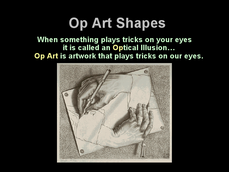 Op Art Shapes Presentation