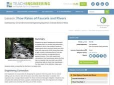 Flow Rates of Faucets and Rivers Lesson Plan