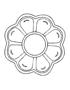 Flower Coloring Page Worksheet