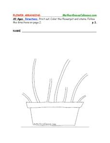Flower Arranging Worksheet