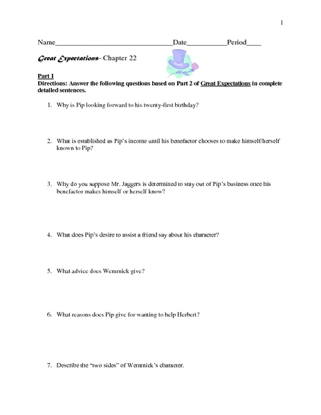 Great Expectations-Chapter 22 Worksheet