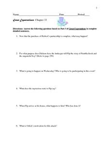 Great Expectations- Chapter 33 Worksheet