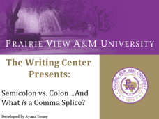 Semicolon vs. Colon...And What is a Comma Splice?  Presentation
