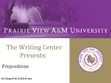 The Writing Center: Prepositions Presentation