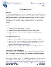 Active and Passive Voice: Finding Examples Online Lesson Plan