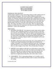 bud not buddy guided imagery exercise th th grade lesson  bud not buddy guided imagery exercise lesson plan